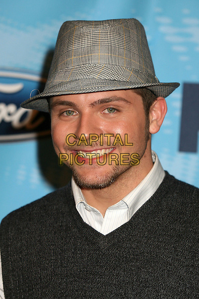 "CHRIS RICHARDSON.""American Idol"" Season 6 Top 12 Finalists Party at Astra West/Pacific Design Center, West Hollywood, California, USA, 8 March 2007..portrait headshot hat.CAP/ADM/BP.©Byron Purvis/AdMedia/Capital Pictures."