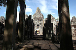 The ruins of Bayon at Angkor Thom, Cambodia. June 7, 2013.