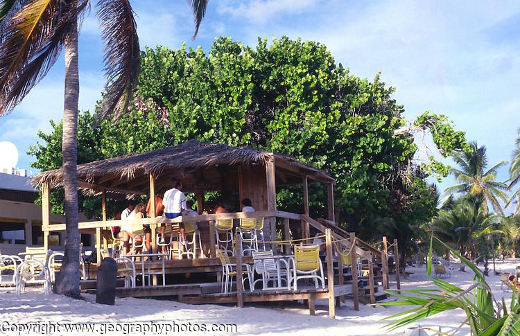 Beach bar, Cayman Brac, Cayman Islands, British West Indies,