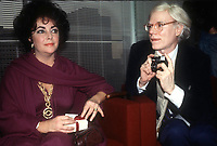 Celebrity Archaeology<br /> 1978 FILE PHOTO<br /> New York, NY<br /> Liz Taylor Andy Warhol<br /> Photo by Adam Scull-PHOTOlink.net