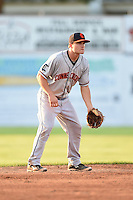 Connecticut Tigers shortstop Garrett Mattlage (1) during a game against the Batavia Muckdogs on July 21, 2014 at Dwyer Stadium in Batavia, New York.  Connecticut defeated Batavia 12-3.  (Mike Janes/Four Seam Images)