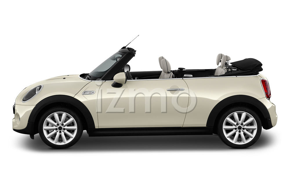 Car driver side profile view of a 2019 Mini Cooper Cooper S Chili 2 Door Convertible