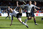 Ross County v St Johnstone…..30.04.16  Global Energy Stadium, Dingwall<br />Steven Anderson attempts an overhead kick<br />Picture by Graeme Hart.<br />Copyright Perthshire Picture Agency<br />Tel: 01738 623350  Mobile: 07990 594431