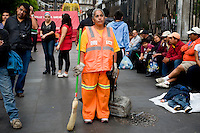 Bicentenial Celebrations of Mexico's independence from Spain, and Centenial celebrations of the Mexican Revolution.  Zocalo, Mexico City. September 15 2010