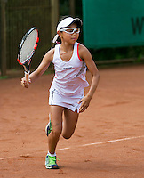 August 4, 2014, Netherlands, Dordrecht, TC Dash 35, Tennis, National Junior Championships, NJK,  Gigi Sy-A-Foek (NED)<br /> Photo: Tennisimages/Henk Koster