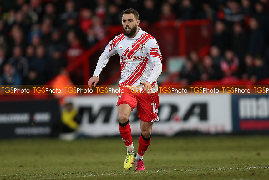 Josh McQuoid of Stevenage during Stevenage vs Grimsby Town, Sky Bet EFL League 2 Football at the Lamex Stadium on 28th January 2017
