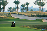 Local women on the 9th fairway during previews Fatima Bint Mubarak Ladies Open played at Saadiyat Beach Golf Club, Abu Dhabi, UAE. 09/01/2019<br /> Picture: Golffile | Phil Inglis<br /> <br /> All photo usage must carry mandatory copyright credit (&copy; Golffile | Phil Inglis)