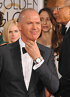 Michael Keaton at the 72nd Annual Golden Globe Awards at the Beverly Hilton Hotel, Beverly Hills.<br /> January 11, 2015  Beverly Hills, CA<br /> Picture: Paul Smith / Featureflash
