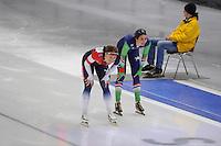 SCHAATSEN: BERLIJN: Sportforum Berlin, 07-12-2014, ISU World Cup, Karolina Erbanová (CZE), Margot Boer (NED), ©foto Martin de Jong