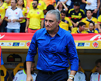 BARRANQUILLA - COLOMBIA -05-09-2017: Tite técnico de Brasil durante partido contra de Colombia de la fecha 16 por la clasificación a la Copa Mundial de Tite Guillermo Hoyos coach of Brazil during match against Colombia of the date 16 for the qualifier to FIFA World Cup Russia 2018 played at Metropolitan stadium Roberto Melendez in Barranquilla. Photo: VizzorImage / Nelson Rios / Cont