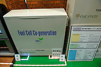Toshiba/Tokyo gas residential fuel cell system, Fuel Cell Expo, Tokyo Big Site, 27 Feb 2009.The expo is the worlds largest hydrogen and fuel cell event. 26,240 people attended over the 25th to 27th February 2009.