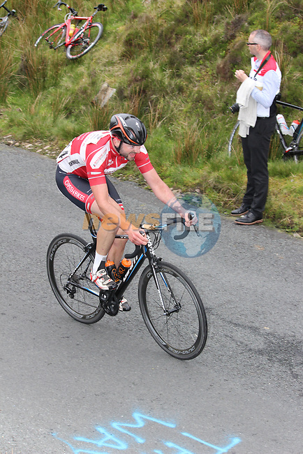 Jude Sands Down Newry Wheelers on the first Cat 1 climb Mamore Gap during Stage 4 of the 2017 An Post Ras running 151.8km from Bundoran to Buncrana, Ireland. 24th May 2017.<br /> Picture: Andy Brady | Cyclefile<br /> <br /> <br /> All photos usage must carry mandatory copyright credit (&copy; Cyclefile | Andy Brady)