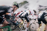 CX world champion Wout Van Aert (BEL/Crelan-Charles) speeding off the start line<br /> <br /> Super Prestige Ruddervoorde / Belgium 2017
