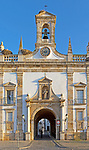 Neoclassical architecture Arco da Vila built after the 1755 earthquake, city of Faro, Algarve, Portugal, Europe
