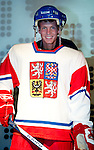 SHANGHAI, CHINA - OCTOBER 11:  Tomas Berdych of Czech Republic poses with the national ice hockey team uniform at the Czech Republic Pavillion as part of a visit to the Shanghai World Expo during day one of the 2010 Shanghai Rolex Masters on October 11, 2010 in Shanghai, China.  (Photo by Victor Fraile/The Power of Sport Images) *** Local Caption *** Tomas Berdych