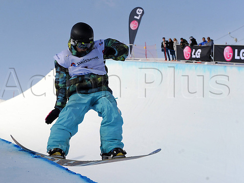 26 03 2011  Snowboarding FIS WC Final Arosa Arosa Switzerland 26 Mar 11 Snowboarding FIS World Cup Final Mens Halfpipe  Picture shows Johann Baisamy FRA
