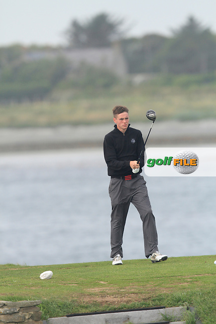 Rob Brazill (Naas) on the 12th during Round 1 of the Irish Youths Amateur Close Championship in Ardglass Golf Club on Wednesday 27th August 2014.<br /> Picture:  Thos Caffrey / www.golffile.ie