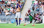 Stockholm 2014-08-10 Fotboll Superettan Hammarby IF - GIF Sundsvall :  <br /> Sundsvalls Marcus Danielsson deppar bredvid Hammarbys Amadayia Rennie <br /> (Foto: Kenta J&ouml;nsson) Nyckelord:  Superettan Tele2 Arena Hammarby HIF Bajen GIF Sundsvall depp besviken besvikelse sorg ledsen deppig nedst&auml;md uppgiven sad disappointment disappointed dejected