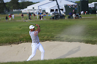 Jason Day (AUS) chips from a bunker at the 8th green during Friday's Round 2 of the 118th U.S. Open Championship 2018, held at Shinnecock Hills Club, Southampton, New Jersey, USA. 15th June 2018.<br /> Picture: Eoin Clarke | Golffile<br /> <br /> <br /> All photos usage must carry mandatory copyright credit (&copy; Golffile | Eoin Clarke)