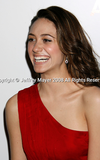 WEST HOLLYWOOD, CA. - October 12: Actress Emmy Rossum arrives at the 2008 Hollywood Life Style Awards at the Pacific Design Center on October 12, 2008 in West Hollywood, California.