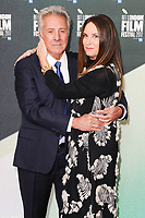 Dustin Hoffman &amp; wife Lisa Hoffman at the London Film Festival 2017 screening of &quot;The Meyerowitz Stories&quot; at the Embankment Gardens Cinema, London, UK. <br /> 07 October  2017<br /> Picture: Steve Vas/Featureflash/SilverHub 0208 004 5359 sales@silverhubmedia.com