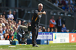 Visiting manager Mick McCarthy becomes animated in the first half at St. Andrew's stadium, during Birmingham City's Barclay's Premier League match with Wolverhampton Wanderers. Both clubs were battling against relegation from  England's top division. The match ended in a 1-1 draw, watched by a crowd of 26,027.