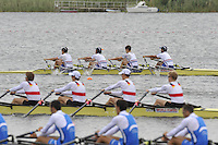 Brandenburg, GERMANY,  BLM4X, Lightweight men'sQuads final, at the  2008 FISA U23 World Rowing Championships, Sunday, 20/07/2008, [Mandatory credit: Peter Spurrier Intersport Images]..... Rowing Course: Brandenburg, Havel Rowing Course, Brandenburg, GERMANY