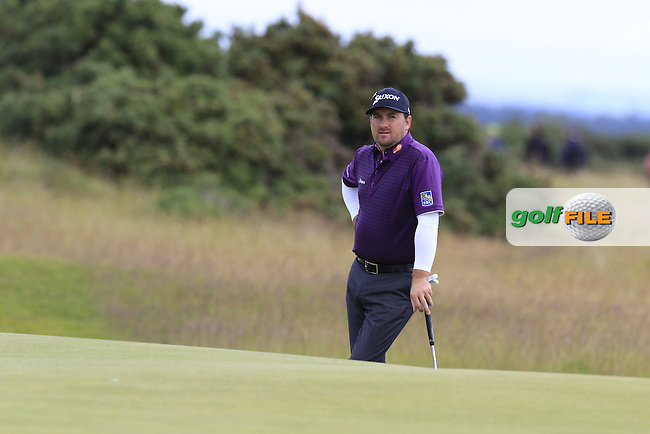 Graeme McDOWELL (NIR) on the 14th green during Sunday's Round  of the 144th Open Championship, St Andrews Old Course, St Andrews, Fife, Scotland. 19/07/2015.<br /> Picture Eoin Clarke, www.golffile.ie