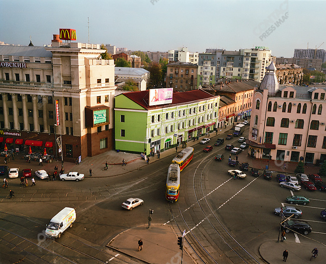 View from Tsum department store where Ruven Grinker has worked as an engineer for over 35 years. Kharkov, Ukraine, 2008.