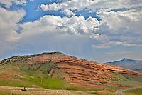 Red hills, Thunderstrom, Bighorn Basin, Cody Wyoming