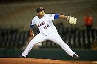 Scottsdale Scorpions pitcher Corey Taylor (44), of the New York Mets organization, during a game against the Salt River Rafters on October 20, 2016 at Scottsdale Stadium in Scottsdale, Arizona.  Scottsdale defeated Salt River 4-1.  (Mike Janes/Four Seam Images)