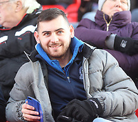 Blackburn Rovers Fans<br /> <br /> Photographer Mick Walker/CameraSport<br /> <br /> The EFL Sky Bet Championship - Stoke City v Blackburn Rovers - Saturday 30th November 2019 - bet365 Stadium - Stoke-on-Trent<br /> <br /> World Copyright © 2019 CameraSport. All rights reserved. 43 Linden Ave. Countesthorpe. Leicester. England. LE8 5PG - Tel: +44 (0) 116 277 4147 - admin@camerasport.com - www.camerasport.com