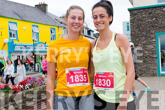 Doireann and Caitriona Hennessy at the Dingle Marathon on Saturday.