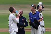 Injury concern for Tom Westley of Essex after he is struck on the head by a Duanne Olivier delivery during Yorkshire CCC vs Essex CCC, Specsavers County Championship Division 1 Cricket at Emerald Headingley Cricket Ground on 5th June 2019