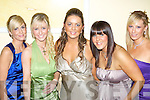 BELLES OF THE BALL: Ringing in 2008 at the New Year's Eve ball held in the Brandon Hotel on Monday night were l-r: Jennifer Hegarty, Aoife Moore, Louise O'Sullivan, Tara O'Sullivan and Charmaine Lawlor.   Copyright Kerry's Eye 2008