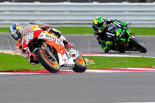 30.08.2014.  Silverstone, England. MotoGP. British Grand Prix. Dani Pedrosa (Repsol Honda Team) during the qualifying sessions.