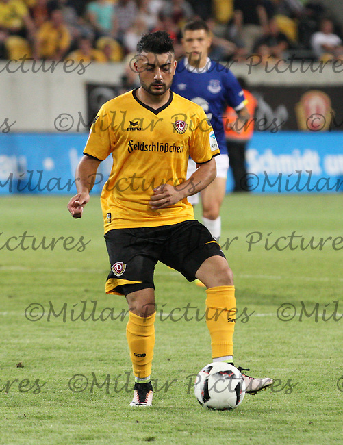 Aias Aosman in the Dynamo Dresden v Everton match in the Bundeswehr Karriere Cup Dresden 2016 played at the DDV Stadion, Dresden on 29.7.16.