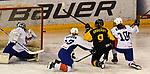 07.01.2020, BLZ Arena, Füssen / Fuessen, GER, IIHF Ice Hockey U18 Women's World Championship DIV I Group A, <br /> Deutschland (GER) vs Frankreich (FRA), <br /> im Bild Tor zum 2:0, Eline Gillodes (FRA, #1) ohne Chance, Flavie Gaydon (FRA, #13) und Lea Berger (FRA, #10) koennen Pauline Gruchot (GER, #9) nicht am Schuss hindern<br /> <br /> Foto © nordphoto / Hafner