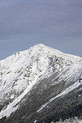 The summit of Mount Lincoln from Franconia Ridge Trail (Appalachian Trail) in the White Mountains of New Hampshire during the winter months.