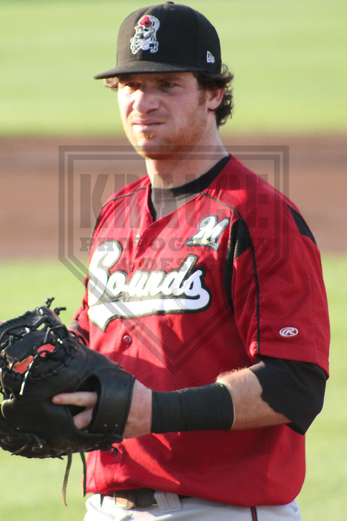 DES MOINES - JULY 2011: Mat Gamel (6) of the Nashville Sounds, Triple-A affiliate of the Milwaukee Brewers during a game on July 18, 2011 at Principal Park in Des Moines, Iowa. (Photo by Brad Krause)