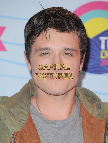 Josh Hutcherson.Teen Choice Awards 2012 - Press Room held at Gibson Amphitheatre, Universal City, California, USA..July 22nd, 2012.headshot portrait brown beige jacket leather grey gray top .CAP/RKE/DVS.©DVS/RockinExposures/Capital Pictures.