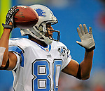 28 August 2008:  Detroit Lions' wide receiver Devale Ellis warms up prior to a game against the Buffalo Bills at Ralph Wilson Stadium in Orchard Park, NY. The Lions defeated the Bills 14-6 in their fourth and final pre-season game...Mandatory Photo Credit: Ed Wolfstein Photo