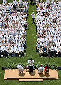 "First Lady Michelle Obama addresses hundreds of chefs from around the country during a ""Let's Move!"" event on the South Lawn of the White House, Friday, June 4, 2010.  The First Lady called on chefs to get involved by adopting a school and working with teachers, parents, school nutritionists and administrators to help educate kids about food and nutrition.   .Mandatory Credit: Chuck Kennedy - White House via CNP"