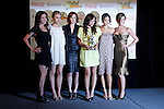 US actresses (from left: Margo Harshman, Leah Pipes, Rumer Willis, Briana Evigan, Jamie Chung and Audrina Patridge) receive the Female Stars of Tomorrow Award at the 2009 ShoWest Awards in Las Vegas, California 2 April 2009. The closing night ceremony for the 2009 ShoWest features top film industry talent at the final night banquet and awards ceremony.