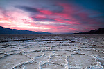 Sunset over Death Valley's Badwater.