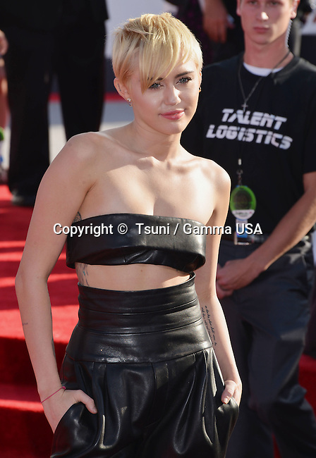 Miley Cyrus 101 at the  MTV Video Music Awards at the Great Western Forum in Los Angeles.