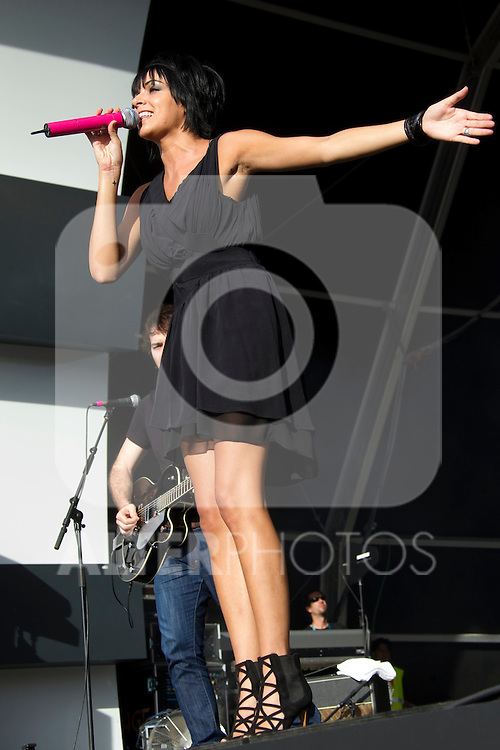 MADRID (06/06/2010).- 'El sueno de Morfeo' with Raquel del Rosario, Fernando Alonso's wife as vocalist, perform during concert at Rock in Rio in Madrid. ..Photo: Cesar Cebolla / ALFAQUI