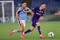 Patric Gil of SS Lazio and Franck Ribery of Fiorentina in action during the Serie A football match between SS Lazio and ACF Fiorentina at stadio Olimpico in Roma ( Italy ), June 27th, 2020. Play resumes behind closed doors following the outbreak of the coronavirus disease. Photo Antonietta Baldassarre / Insidefoto