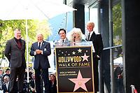 LOS ANGELES - FEB 24:  Rob Gulack, Tony Butala, Bobby Poynton, Connie Stevens, Donovan Tea at the The Lettermen Star Ceremony on the Hollywood Walk of Fame on February 24, 2019 in Los Angeles, CA