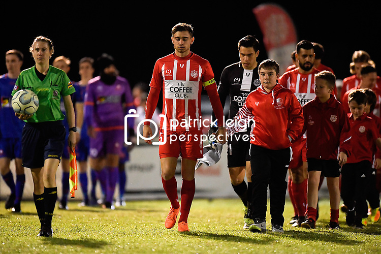 BRISBANE, AUSTRALIA - JULY 28:  during the NPL Queensland Senior Mens Round 25 match between Olympic FC and Lions FC at Goodwin Park on July 28, 2019 in Brisbane, Australia. (Photo by Patrick Kearney)